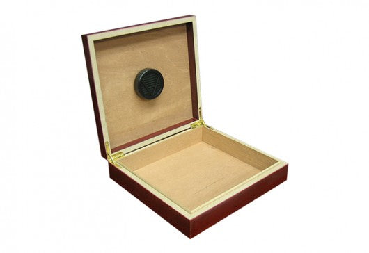 The Chateau small desktop humidor in Cherry wood finish (~20 count)