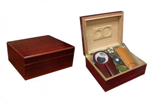 The Diplomat Desktop Humidor gift-set (~25-50 count)