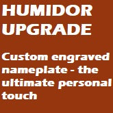 Custom Nameplate Upgrade (for 75-100 count humidors)