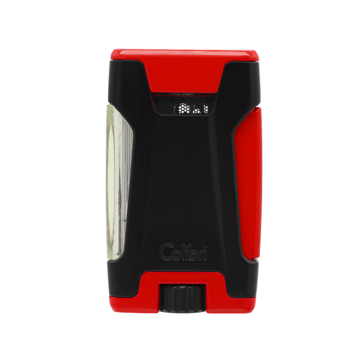 Colibri - Rebel Double Jet Flame Cigar Lighter (Matte Red-Black)
