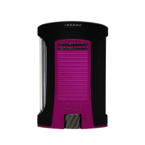 Colibri - Daytona Single Jet Flame Cigar Lighter (Matte Black-Metallic Pink)
