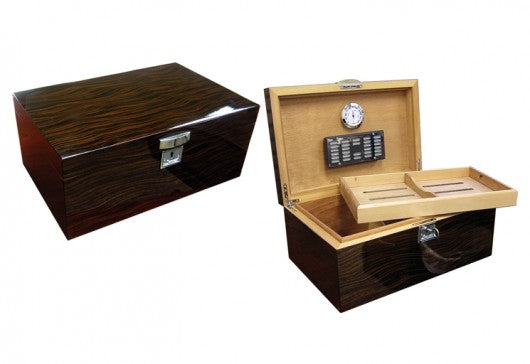 The Princeton Ebony Desktop Humidor (~130 count)