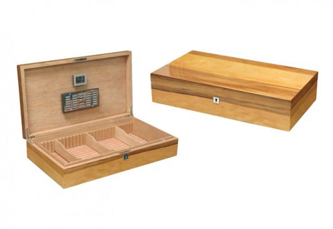 The Winchester - Authentic Apple Wood lacquer finish desktop humidor (~180 count)