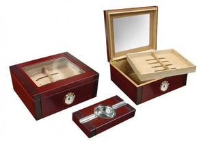 The Sovereign Desktop Humidor gift-set (~50 count)