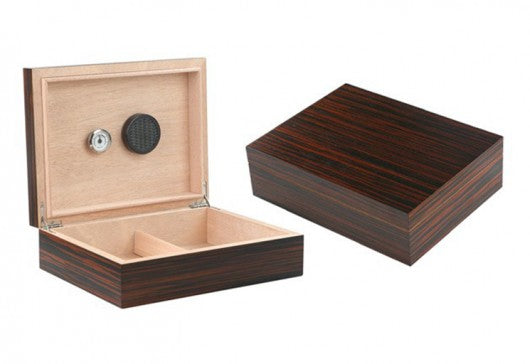 Vizcaya desktop humidor in Ebony finish (~25-50 count)