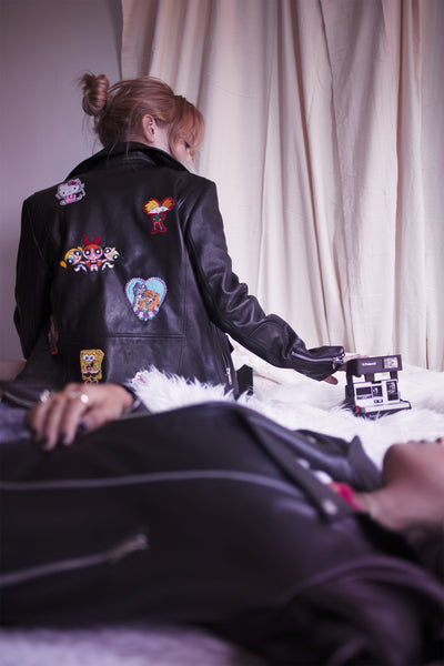 UNIFORM x The Series: '90s Cartoons Classic Moto Jacket - UNIFORM CLOTHING