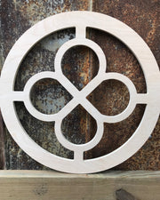 Cathedral Quatrefoil with Cross X