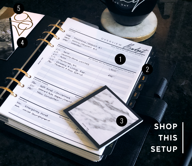 Shop This Setup - Budget Planner - March 2019