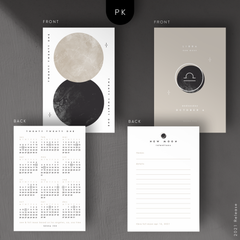 New Moon Intentions Journal Planner Cards