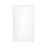 6 Side Tab Dividers - Personal Size - Clear Frosted