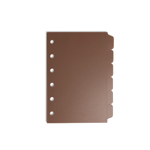 Tab Dividers - Pocket Size - Brown