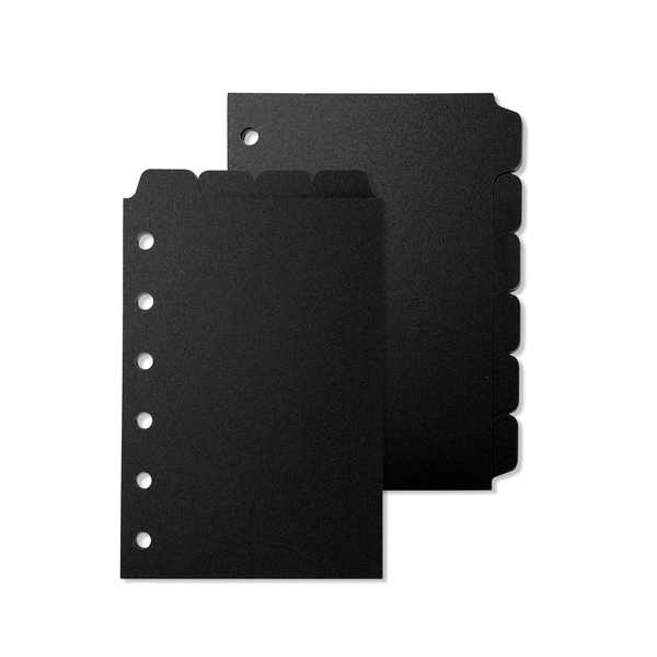 Tab Dividers - Pocket Size - Black