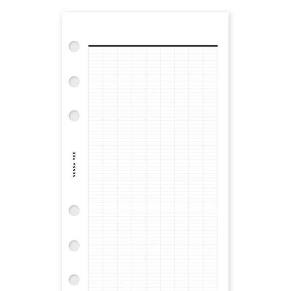 French Lined - Personal Size - Planner Inserts