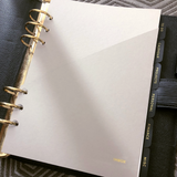 Grey beige planner folder inside Louis Vuitton Epi GM Agenda