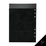 Luxe & Layered™ Pocket Folder for 6 Ring Planners - Velvet, Black
