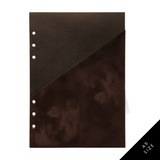 Luxe & Layered™ Pocket Folder for 6 Ring Planners - Velvet, Dark Brown