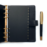 Monthly Tab Dividers - Personal Size - Black
