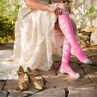 Maid of Honor Sparkly Knee Socks