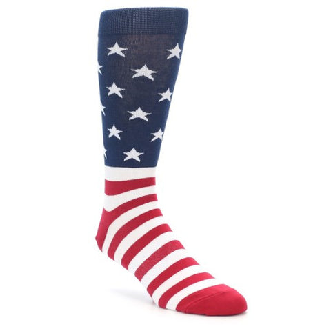 Men's American Flag Crew Socks by K. Bell