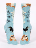 """People I Want to Meet: Dogs"" Women's Crew Socks"