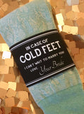 """In Case of Cold Feet"" Sock Label 