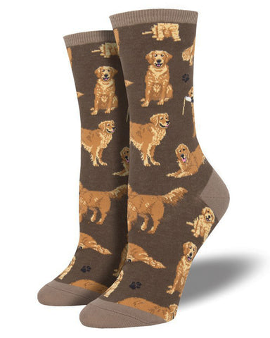 Golden Retrievers Women's Crew Socks