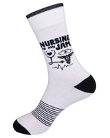 Nursing is My Jam Unisex Crew Socks