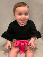 Bow Front Sequin Shorts for Babies & Children