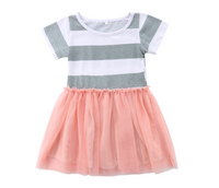 Striped T-shirt Tutu Dress for Girls