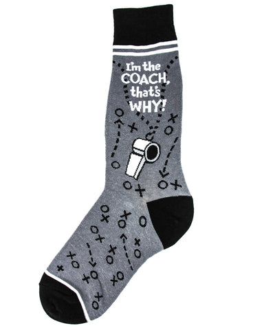 I'm the Coach, That's Why - Men's Crew Socks