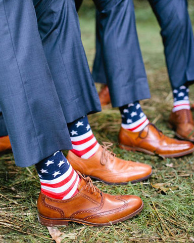 American Flag Dress Socks for Men