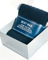 Navy Best Man Thank You Label with Socks ©
