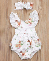 Baby Girl Deer Romper