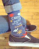 """Carpe the F*** Out of this Diem"" women's socks by Blue Q"