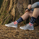 American Flag Dress Socks | Patriotic Groomsmen Socks | Military Wedding Socks