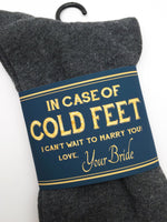Navy & Gold In Case of Cold Feet Label
