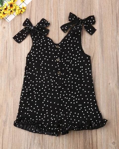Polka Dot Sleeveless Romper