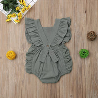 Summer Romper with Ruffled Sleeves