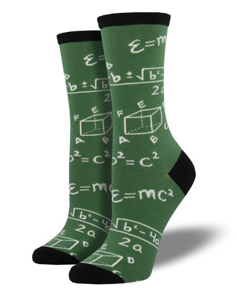 Math Women's Crew Socks- Green