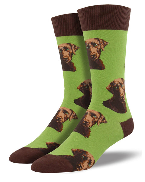 Lab-or of Love Men's Crew Socks- Lime