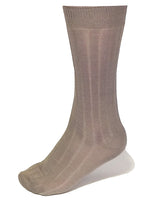 Khaki Ribbed Luxury Men's Socks