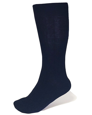 Navy Ribbed Luxury Men's Socks