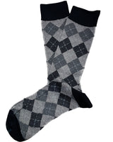 Charcoal Diamonds Luxury Socks