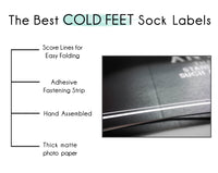 Cold Feet Sock Label & Wedding Socks | Faux Leather with Gold