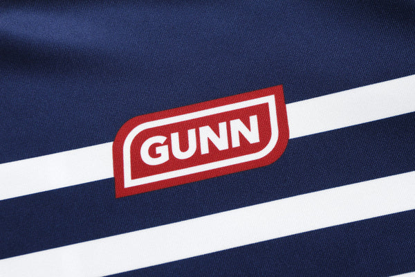 GUNN ATHLETIC Pro Crew Quattro navy detail