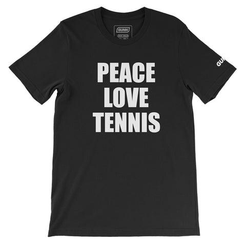 PEACE LOVE TENNIS TEE (Black)