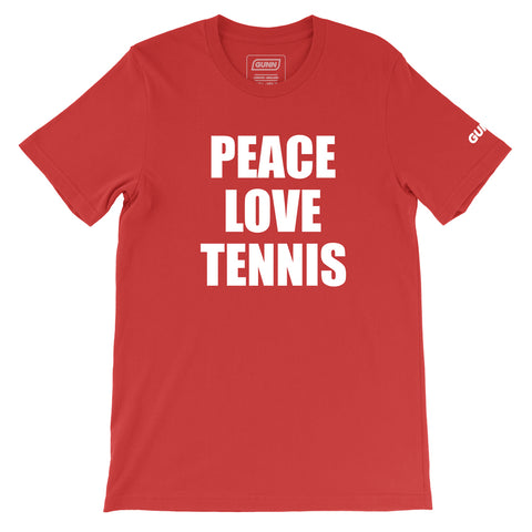 PEACE LOVE TENNIS Tee (Red)
