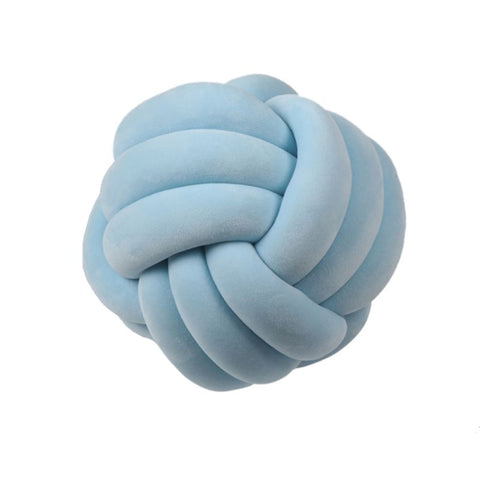 Ball-shaped knotted pillow collection