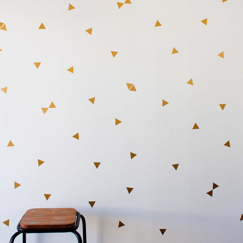 Triangle Pattern Vinyl Stickers - DIY Wall Art