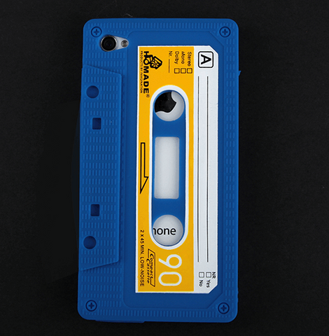 Soft Silicone Cassette Tape iPhone 3/4/S Cover